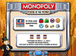 Monopoly Slot Payscreen
