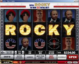 Rocky Slot Bonus Screen